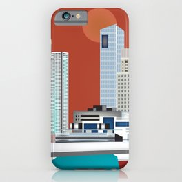 Buenos Aires, Argentina - Skyline Illustration by Loose Petals iPhone Case
