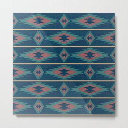 Native Spirit Pattern Metal Print