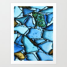 Beach Glass Mosaic Art Print