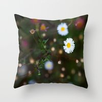 confetti Throw Pillows featuring Confetti by The Botanist's Daughter