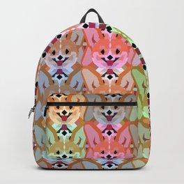 Multicolor Cardigan Corgi Face Pattern - version one Backpack