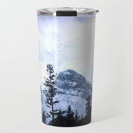 Mystic Three Sisters Mountains - Canadian Rockies Travel Mug