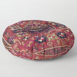 Karakecili Balikesir Antique Tribal Turkish Rug Print Floor Pillow