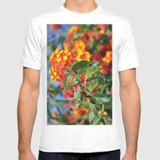 flower Mens Fitted Tee MEDIUM White