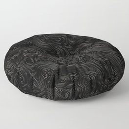 Black Silk Moire Pattern Floor Pillow