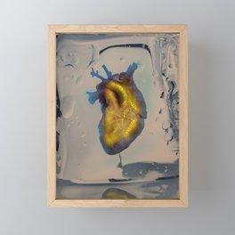 Heart of Gold encased in ice Framed Mini Art Print