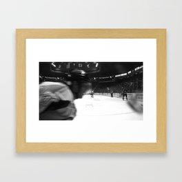 fast hockey Framed Art Print