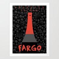 fargo Art Prints featuring Fargo by Lorcy