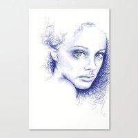 indigo Canvas Prints featuring Indigo by Beth Steinbauer