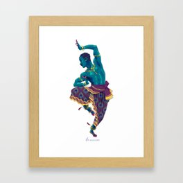 Bharatanatyam Dancer Framed Art Print