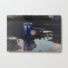 Dr Who - 12th Dr Reflection Metal Print