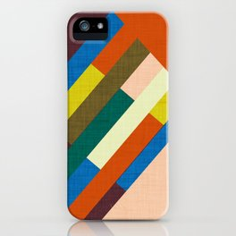 Meridian Orange #homedecor #midcenturymodern #midcentury iPhone Case