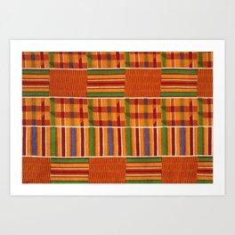 Ethnic African Kente Cloth Pattern Art Print