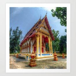 Thailand Temple #5 Art Print