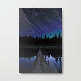 Lost Lake Star Trail Metal Print