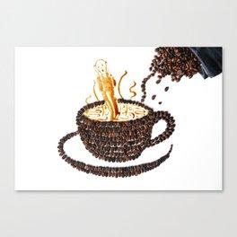 "I ""scream"" for coffee! Canvas Print"