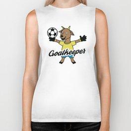 Goatkeeper Goat Goalkeeper Animal Soccer Farmer Design Biker Tank