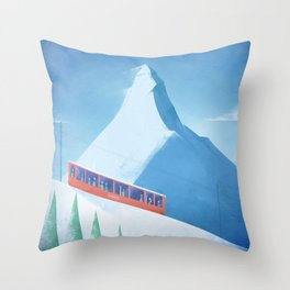 Ski Zermatt Throw Pillow