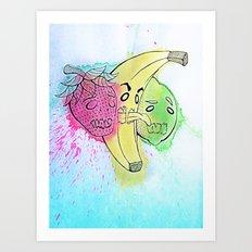 Fruit Snacks!  Art Print