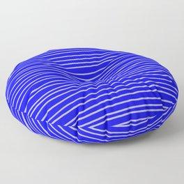 Cobalt Pinstripes Floor Pillow