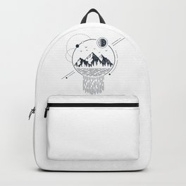 Mountains. Geometric Style Backpack