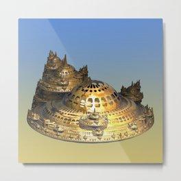 City of Gold Fractal Metal Print