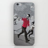 the walking dead iPhone & iPod Skins featuring The Walking Dead by Steven P Hughes