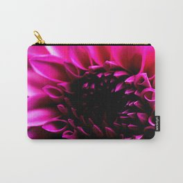 Vibrant Pink Flower Carry-All Pouch