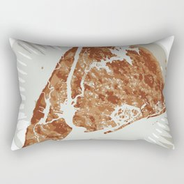 Pizza Map Rectangular Pillow