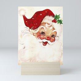 Vintage Santa 4 Mini Art Print