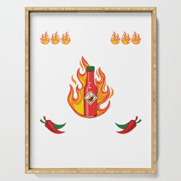 I Pit Hot Sauce On My Hot Sauce T-shirt Design Spicy Tomato Ketchup Jalapeno Pepper Burger Pizza Serving Tray