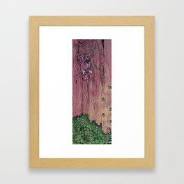 pink owl Framed Art Print