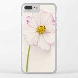 Sensation Cosmos Single Bloom Clear iPhone Case