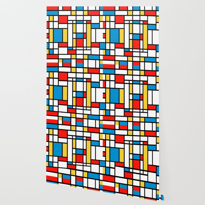 Tribute to Mondrian No2 Wallpaper