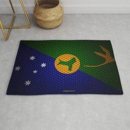 Flag of Christmas Island 4k creative art metal mesh texture Christmas Island flag national symbol Ch Rug