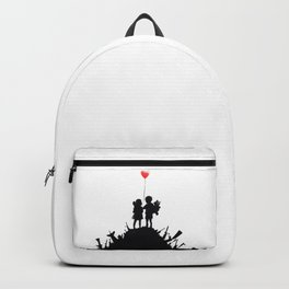 Banksy, Kids with heart balloon Backpack