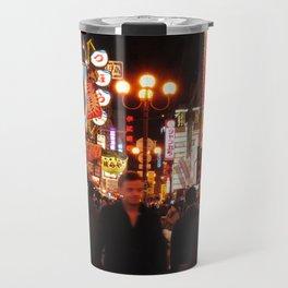 Night Vibe in Dotonburi, Osaka Travel Mug