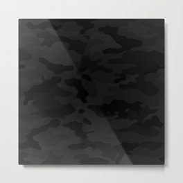 Midnight Camo Metal Print