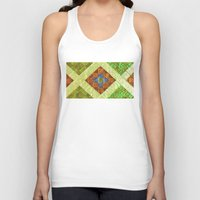 arab Tank Tops featuring arab stained glass by tony tudor