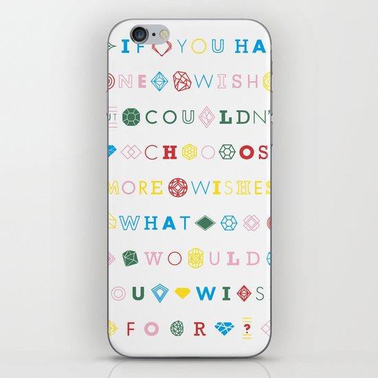 One Wish iPhone & iPod Skin