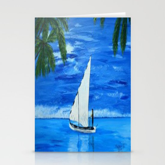 Sailing a way  Stationery Cards