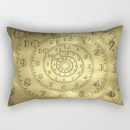 time clock antique Rectangular Pillow