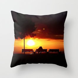 Don't Ever Let The Sun Go Throw Pillow