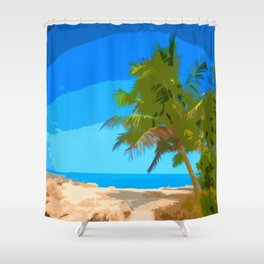 Palm Tree in Key West Shower Curtain
