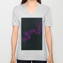 Purple Smoke Unisex V-Neck
