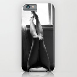 Digital photo b&e photography nude girl iPhone Case