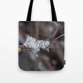 Delicate Snowflake Tote Bag