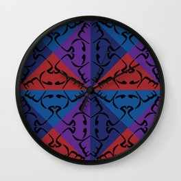 Arabic Peace Tiled Wall Clock