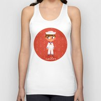 sailor Tank Tops featuring Sailor by Anoosha Syed