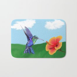 The very hungry hummingbird Bath Mat